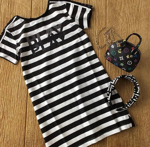MYL 6985 Striped Play Dress