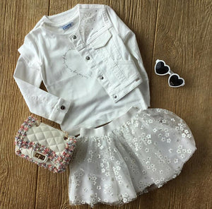 MYL 3466 White Denim Jacket