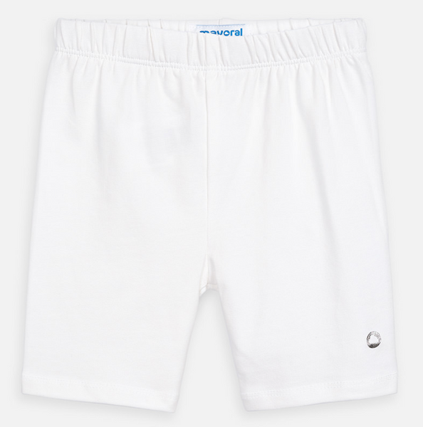 MYL 3272 13 White Biker Shorts