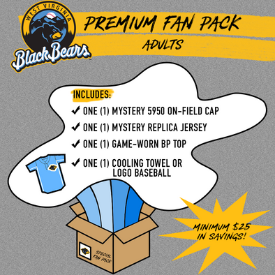 West Virginia Black Bears Adult Premium Fan Pack