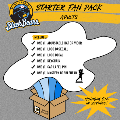 West Virginia Black Bears Adult Starter Fan Pack