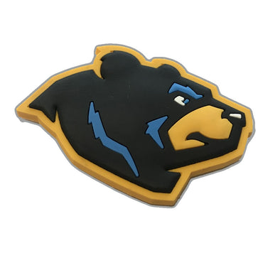 West Virginia Black Bears Bear Head Magnet