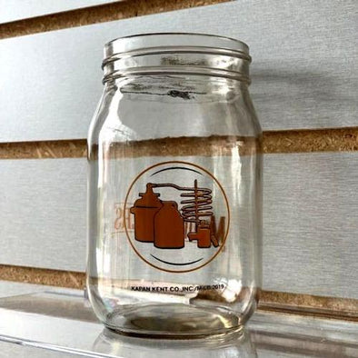West Virginia Black Bears Moonshiners Glass Mason Jar