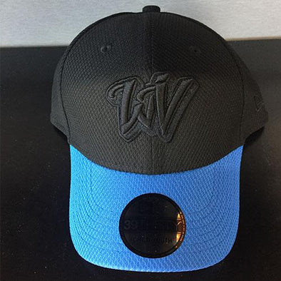 West Virginia Black Bears Youth Blue and Black WV Hat