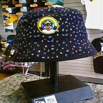 West Virginia Black Bears Youth Alphabet Bucket Hat