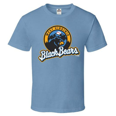 West Virginia Black Bears Youth Carolina Blue Tee