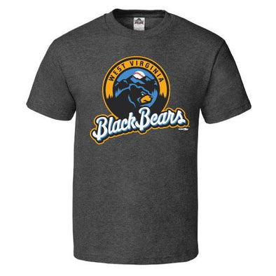 West Virginia Black Bears Youth Charcoal Tee