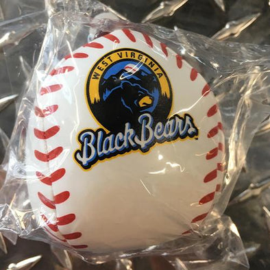West Virginia Black Bears White Rawlings Soft Logo Baseball