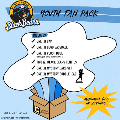 West Virginia Black Bears Youth Fan Pack