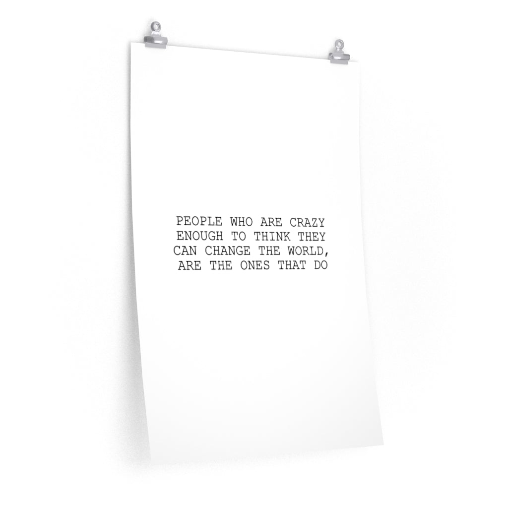 """Change the World"" Art Paper Quote - RemoteOffice"
