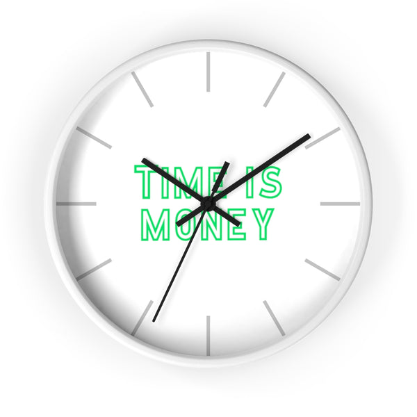 Time Is Money Wall Clock - Remote Office Supplies