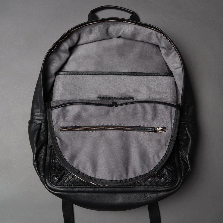 Weaved Journey Leather Backpack