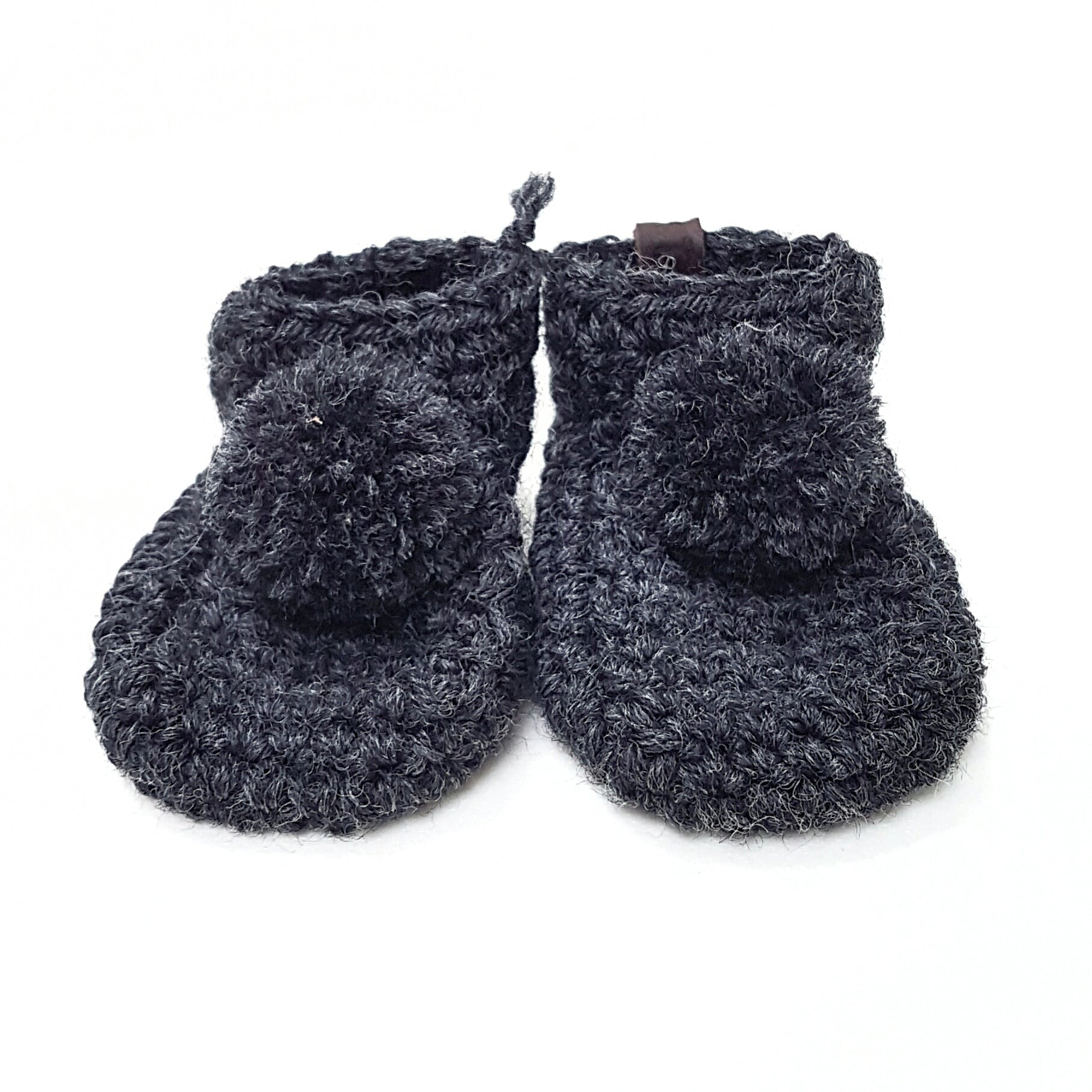 BABY BOOTIES | WOOL & LEATHER POMPON