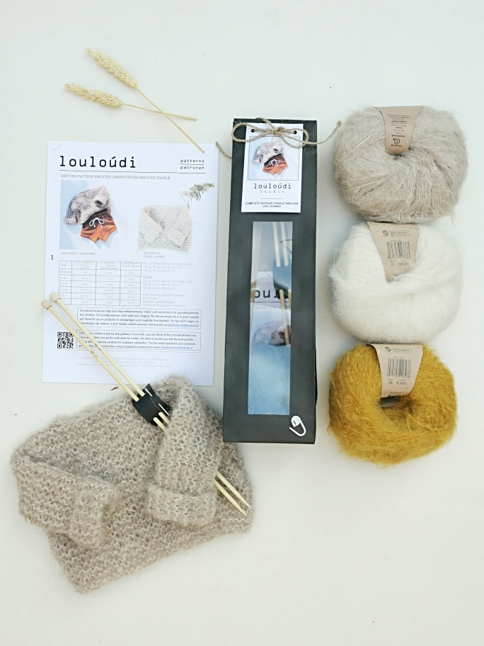 knitting kit sweater Charlie