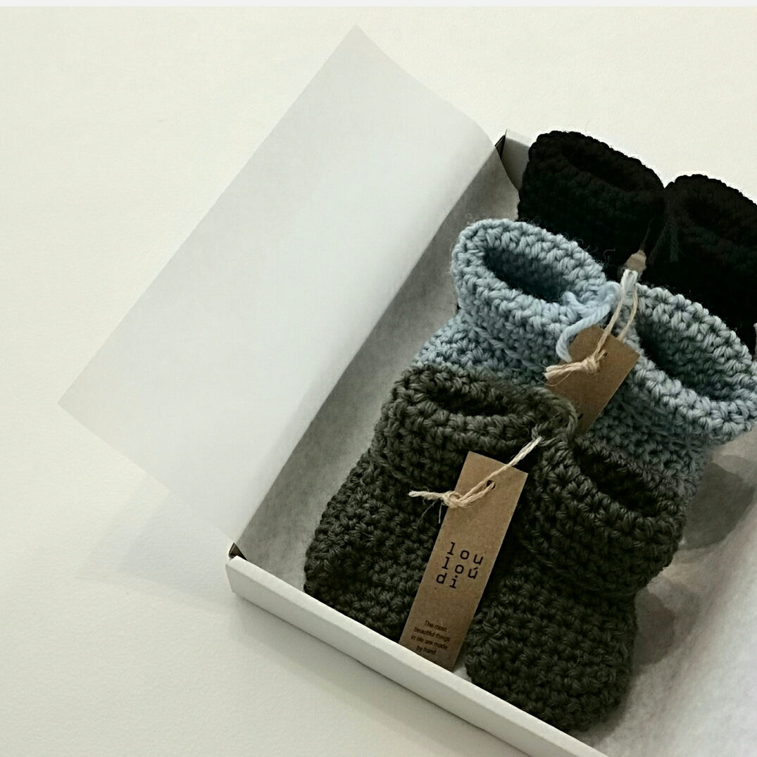 BABY BOOTIES | WOOL & LEATHER
