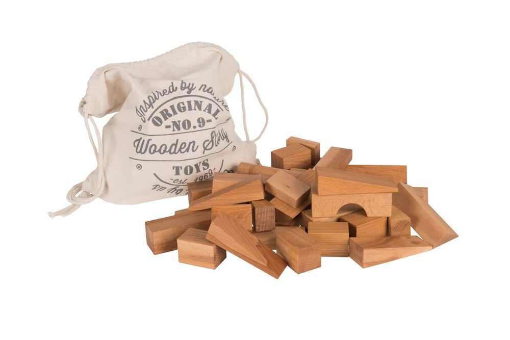 Natural blocks XL in sack 50 pieces