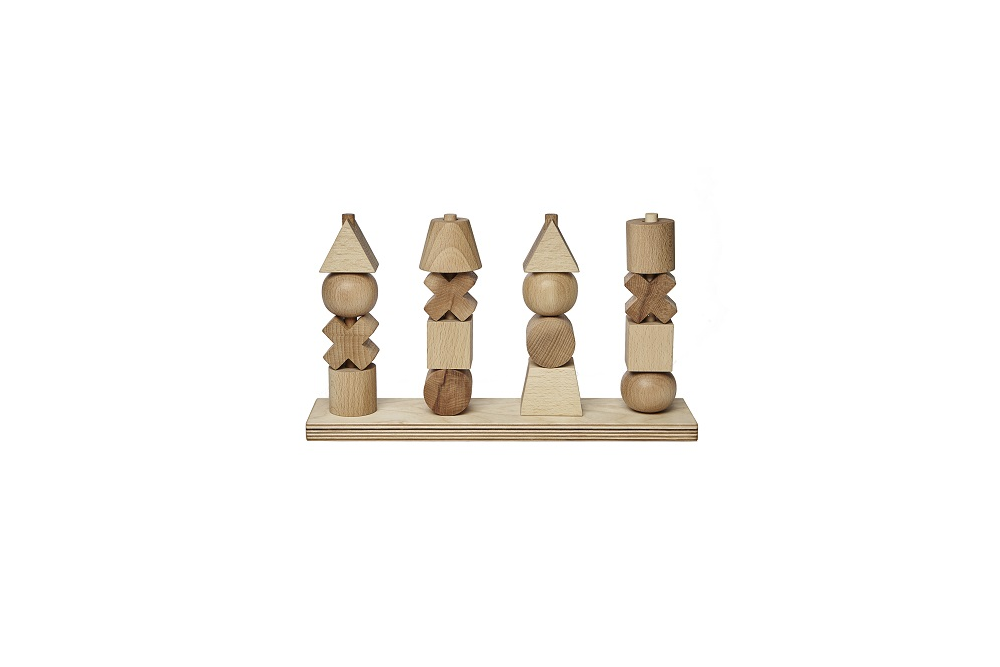 Natural stacking toy XL Wooden Story