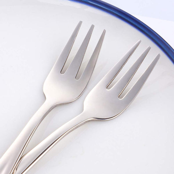10/8 Stainless Steel Salad Appetizer Forks 5.5 Inch, Set of 8