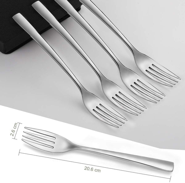 12-Piece 13/0 Stainless Steel Dinner Forks Set, 8 Inches