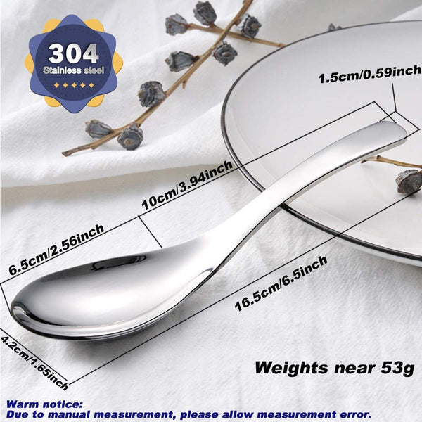 18/8 Stainless Steel Stainless Steel Soup Spoons Set of 4