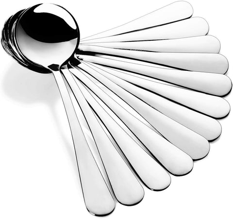 12-Piece 18/8 Stainless Steel Bouillon Spoon Set, SUS304-1010BS174