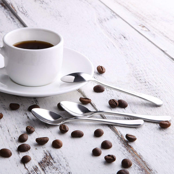 4 Inch Demitasse Espresso Spoons, Stainless Steel Mini Coffee Spoons Set of 12