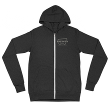 Load image into Gallery viewer, Premium Zip Hoodie Grey Logo - Unisex