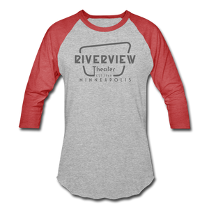 Baseball T-Shirt - heather gray/red