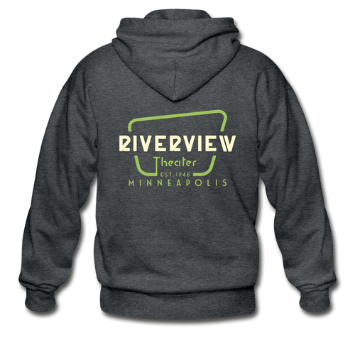 Men's Zip Hoodie - deep heather