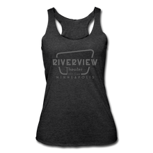 Load image into Gallery viewer, Women's Tri-Blend Racerback Tank - heather black