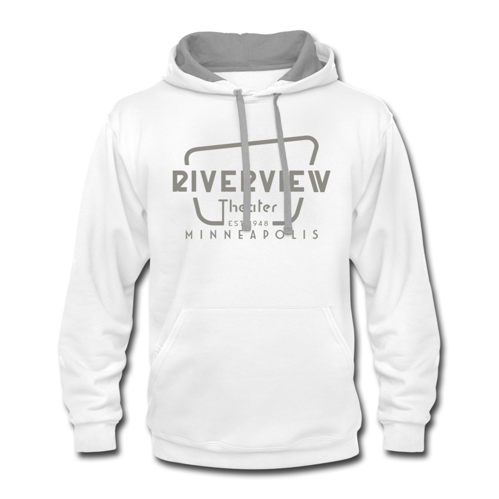 Contrast Hoodie - white/gray