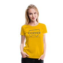 Load image into Gallery viewer, Women's Grey Logo T-Shirt - sun yellow