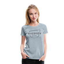 Load image into Gallery viewer, Women's Grey Logo T-Shirt - heather ice blue