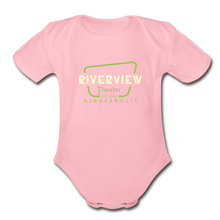 Load image into Gallery viewer, Organic Short Sleeve Baby Bodysuit - light pink