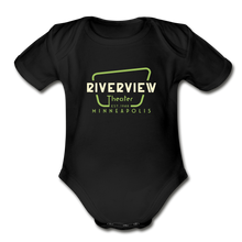 Load image into Gallery viewer, Organic Short Sleeve Baby Bodysuit - black