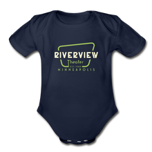 Load image into Gallery viewer, Organic Short Sleeve Baby Bodysuit - dark navy