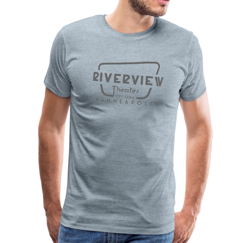 Men's Grey Logo T-Shirt - heather ice blue