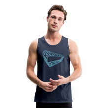 Load image into Gallery viewer, Men's Premium Vintage Tank - navy