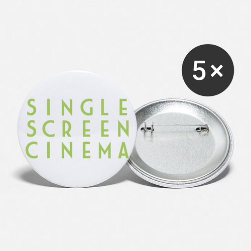 Single Screen Cinema Buttons 2.2'' (5-pack) - white