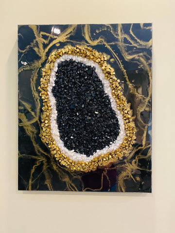 Geode Inspired Wall Art