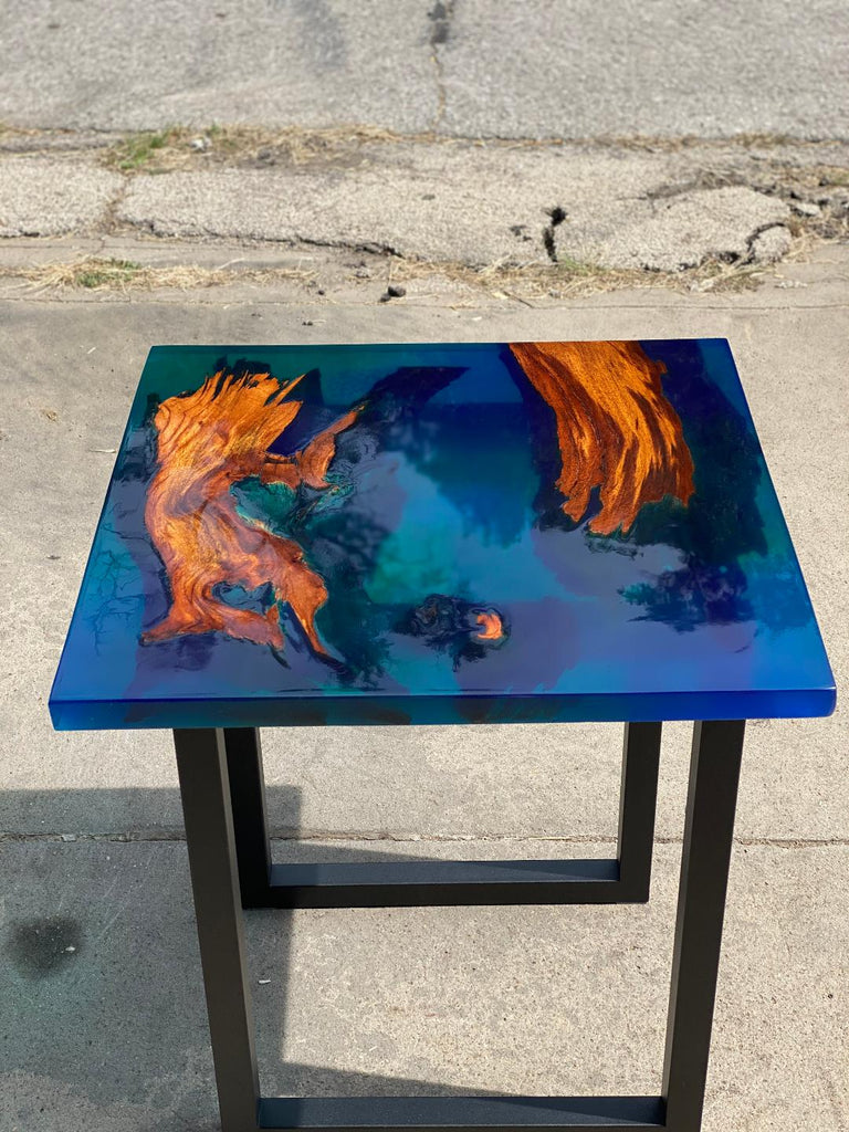 Live Edge Epoxy Side Table