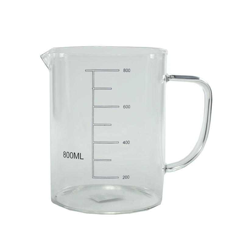 Glass Measure Beaker With Handle 800ml