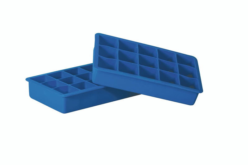 Ice Cube Tray Silicone 15 Cup 2pk