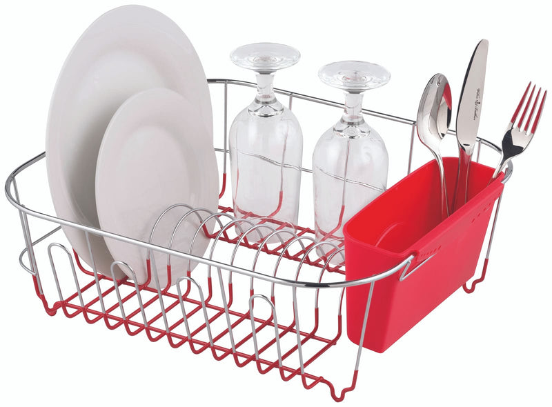 Slimline Dish Rack Large Red