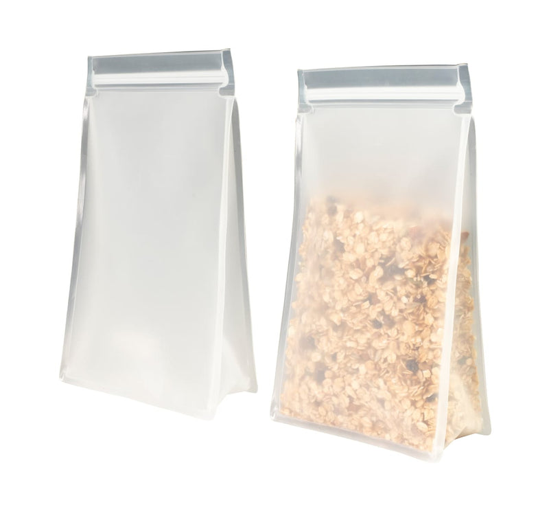 Reusable Stand Up Bag Tall 1.45 Litre 2 Pack