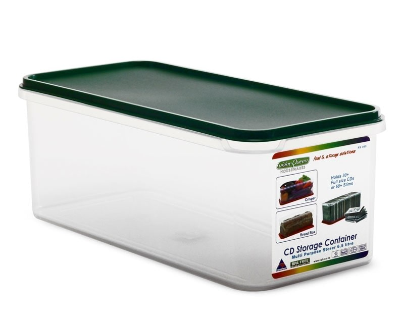 Cuisine Queen 6.5 Litre CD Storage Container