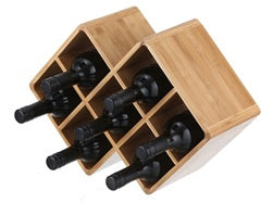 Wine Rack Bamboo 7 Bottle