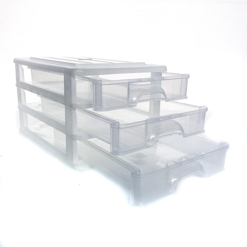 Drawers 3 Tier A4 Clear