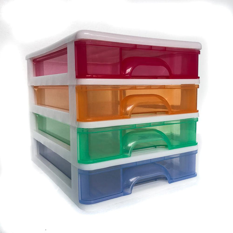 Drawers 4 Tier A4 Coloured