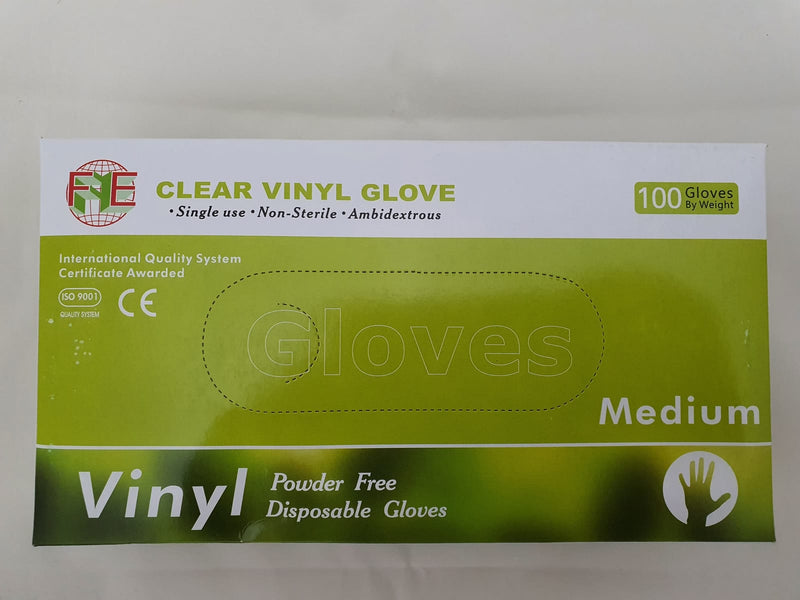 Heavy Duty Vinyl Gloves Medium 100pk